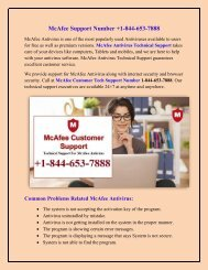 McAfee Support Number +1-844-653-7888