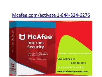 Mcafee activate | 1-844-324-6276 | mcafee.com/activate