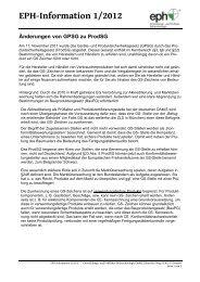 EPH-Information 1/2012 - IhD