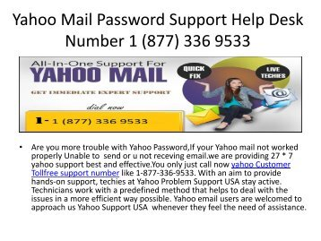 Call now 1-877-336-9533|Yahoo Mail Not Sending or Receiving Emails
