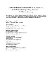 Wahlen zur Vollversammlung der Industrie- und Handelskammer