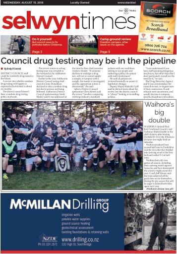 Selwyn Times: August 15, 2018