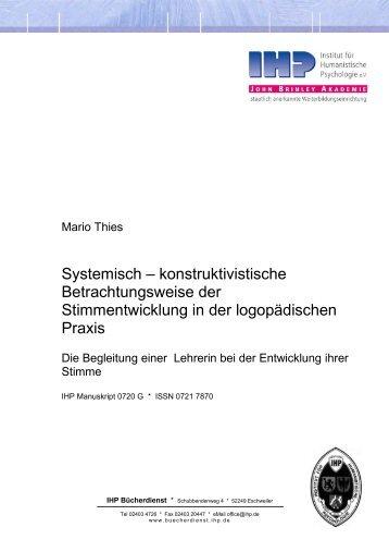 Systemisch – konstruktivistische Betrachtungsweise der ...