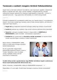 Tanácsok eszperantó szóbeli vizsgára történő felkészüléshez - 2