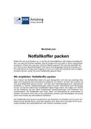 Notfallkoffer packen - IHK Arnsberg Hellweg-Sauerland