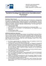 E-Commerce - IHK Arnsberg Hellweg-Sauerland
