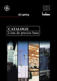 CATALOGO Lista de precios base - GE Lighting