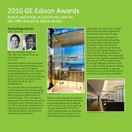 2010 GE Edison Awards - GE Lighting