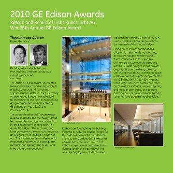 2010 GE Edison Awards - GE Lighting