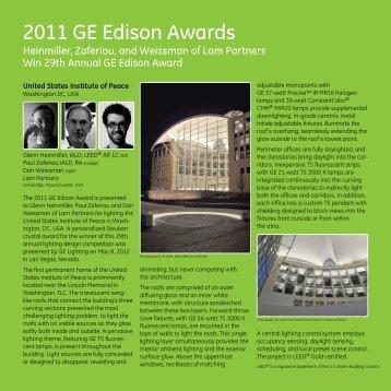 2011 GE Edison Awards - GE Lighting