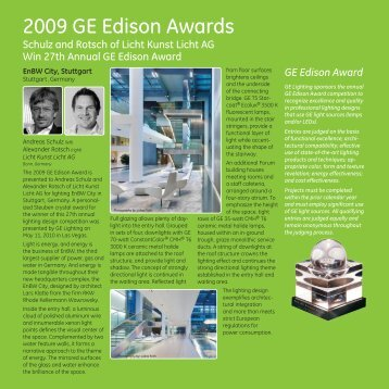 2009 GE Edison Awards - GE Lighting