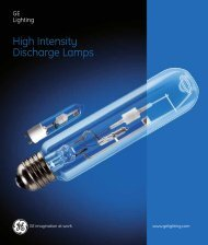 High Intensity Discharge Lamps (Spectrum) - Catalogue - GE Lighting