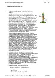 Seite 1 von 2 MUNLV  NRW - Landentwicklung NRW 20.02.2006 ...