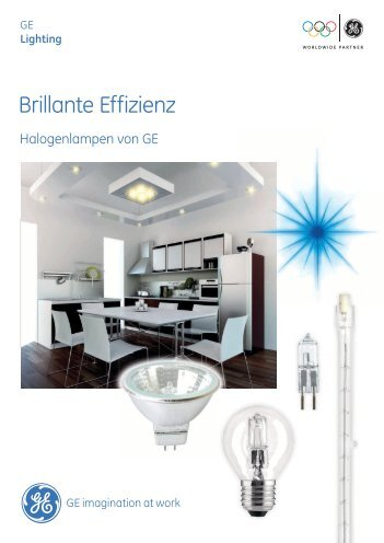 Energieeffiziente Halogenlampen - GE Lighting