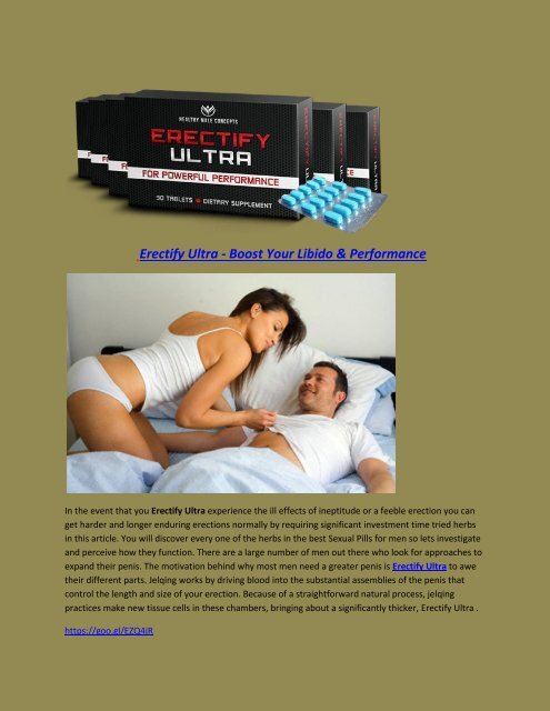 Erectify Ultra - Boost Your Libido & Performance