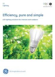 Efficiency, pure and  simple - GE Lighting