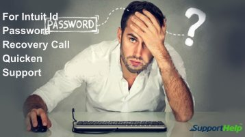 For Intuit Id Password Recovery Call Quicken Support