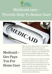 Cost Effective In-Home Care Service - A Place at Home Omaha