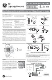 INSTALLATION INSTRUCTIONS Model # SDT-WIDE ... - GE Lighting