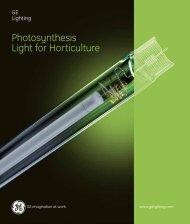 Horticulture Lamps (Spectrum) - Catalogue - GE Lighting