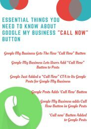 Essential Things You Need To Know About Google My Business _Call Now_ Button