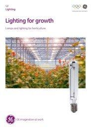 Horticulture Lighting - Brochure - GE Lighting