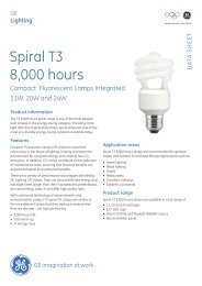Spiral T3 8,000 hours - GE Lighting
