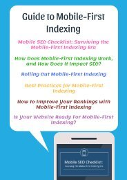 Guide to Mobile-First Indexing