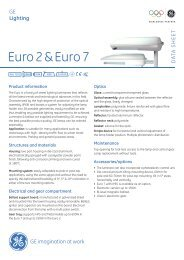 Euro 2 & Euro 7 - GE Lighting