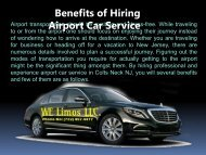 Benefits of Hiring Airport Car Service