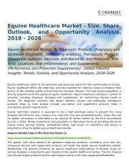 Equine Healthcare Market Opportunity Analysis, 2018-2026