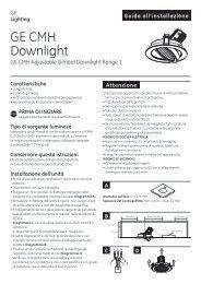 C D Guida all'installazione - GE Lighting
