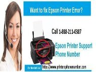 Dial 1-888-211-0387 How To fix epson  Printer Error Codes and Messages