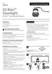 GE BiaxTM Downlight - GE Lighting