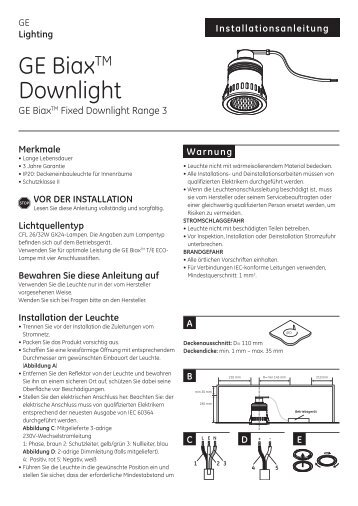 GE BiaxTM Downlight - GE Lighting
