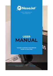 NasaJet handheld inkjet printer - User Manual 2018