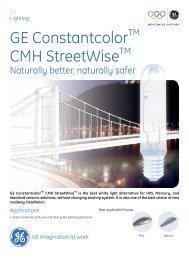 GE ConstantcolorTM CMH StreetWiseTM - GE Lighting