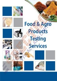 Food Testing Laboratory Services - Food Testing Labs in Delhi