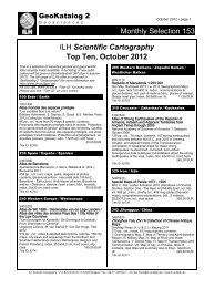 Scientific Cartography Top Ten, October 2012 - ILH Stuttgart ...