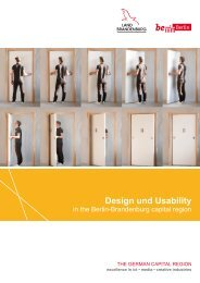 Design and Usability in the Capital Region Berlin Brandenburg