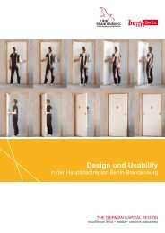 Design und Usability in der Hauptstadtregion Berlin-Brandenburg
