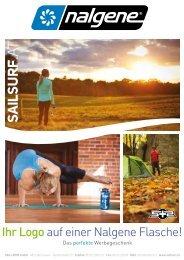 Sail+Surf | NALGENE Trinkflaschen Eigendruck Katalog