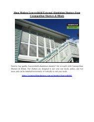 Shop Modern Louvreshield External Aluminium Shutters from Cosmopolitan Shutters and Blinds