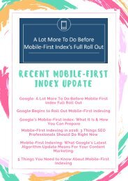 Recent Mobile First Index Update