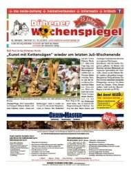 Dübener Wochenspiegel - Ausgabe 13 - Jahrgang 2018