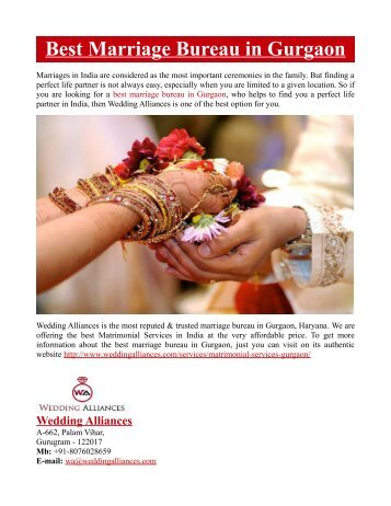 Best Marriage Bureau in Gurgaon