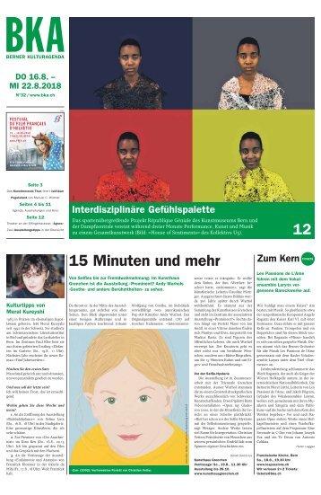 Berner Kulturagenda N°32