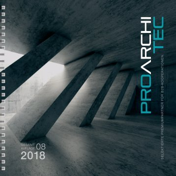 pro ArchiTec - Ausgabe Herbst 2018