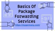 Basics Of Package Forwarding Services