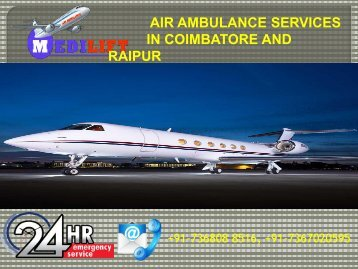 Air Ambulance Services Coimbatore and Raipur